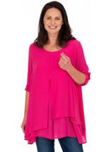 Layered Crinkle Tunic Candy - Gallery Image 1