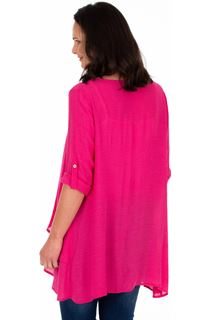 Layered Crinkle Tunic - Candy