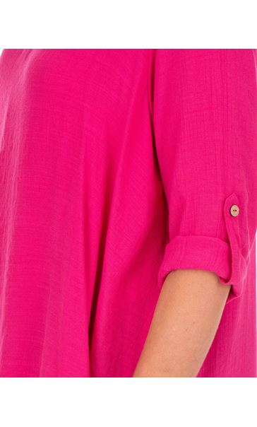 Layered Crinkle Tunic Pink - Gallery Image 3