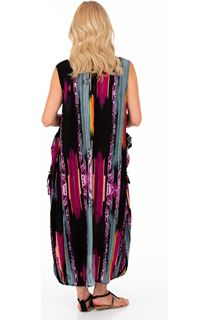 Sleeveless Printed Loose Fit Maxi Dress