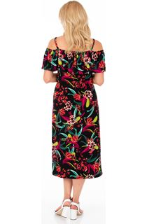 Floral Printed Stretch Midi Dress