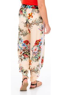 Floral Tie Up Pull On Trousers