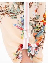 Floral Tie Up Pull On Trousers Black/Peach - Gallery Image 3