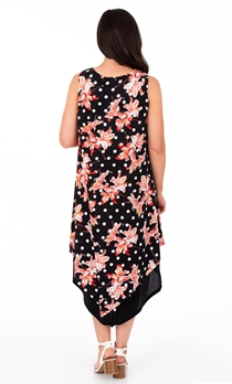 Printed Lightweight Knitted Layer Dress