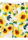 Sunflower Printed Pull On Shorts Yellow/White - Gallery Image 3