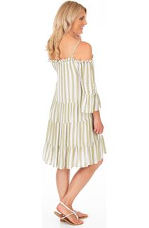 Striped Cold Shoulder Tunic