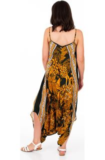 Printed Strappy Harem Jumpsuit