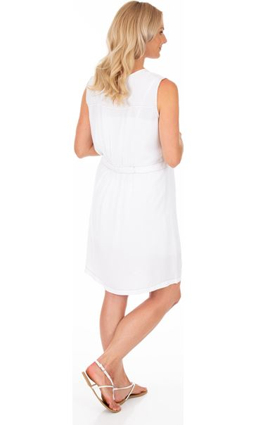 Embroidered Sleeveless Tunic White - Gallery Image 2