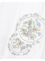 Embroidered Sleeveless Tunic White - Gallery Image 3