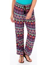 Printed Elasticated Hem Trousers