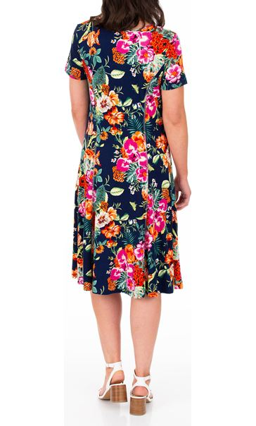 Anna Rose Printed Panelled Jersey Dress