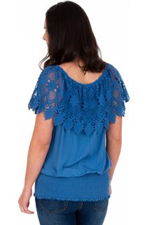 Lace Trimmed Jersey Top