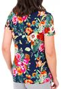 Anna Rose Floral Printed Short Sleeve Top Navy/Multi - Gallery Image 3