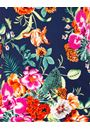 Anna Rose Floral Printed Short Sleeve Top Navy/Multi - Gallery Image 4