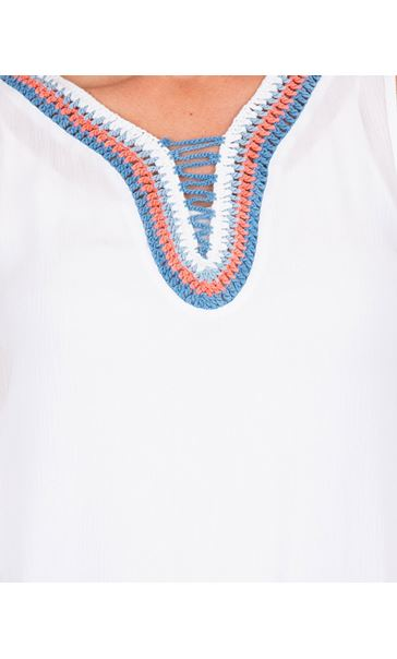 Embroidered Sleeveless Top White - Gallery Image 3