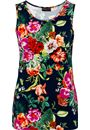 Anna Rose Floral Printed Sleeveless Top Navy/Multi - Gallery Image 1