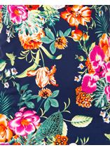 Anna Rose Floral Printed Sleeveless Top Navy/Multi - Gallery Image 4