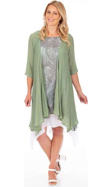 Crinkle Open Cover Up Green