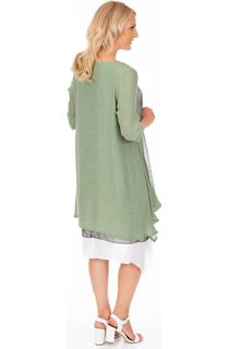 Crinkle Open Cover Up - Green