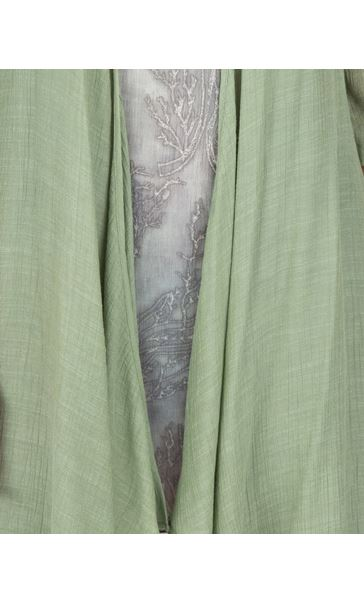 Crinkle Open Cover Up Green - Gallery Image 3