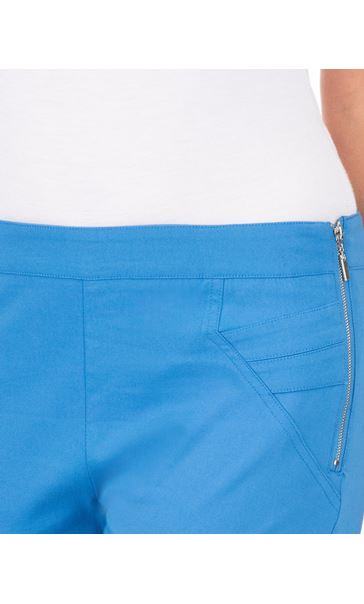 Slim Leg Cropped Trousers Wedgewood Blue - Gallery Image 3