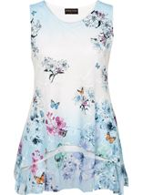 Anna Rose Printed Layered Top White/Multi - Gallery Image 4