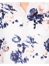 Anna Rose Floral Print Top White/Pink/Navy - Gallery Image 3