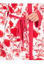 Printed Dressing Gown White/Red - Gallery Image 3