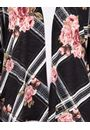 Floral Print Lightweight Knit Cover Up Black/Pink - Gallery Image 3
