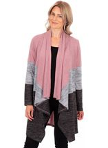 Colour Block Lightweight Knitted Cardigan