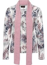 Anna Rose Printed Brushed Knit Top With Scarf Multi - Gallery Image 1