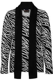 Anna Rose Animal Print Brushed Knit Top With Scarf