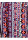 Panelled Printed Jersey Dress Blue/Pink - Gallery Image 3