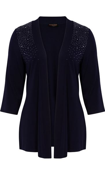 Anna Rose Split Sleeve Embellished Cover Up Midnight