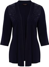 Anna Rose Split Sleeve Embellished Cover Up Midnight - Gallery Image 1
