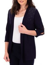 Anna Rose Split Sleeve Embellished Cover Up Midnight - Gallery Image 2