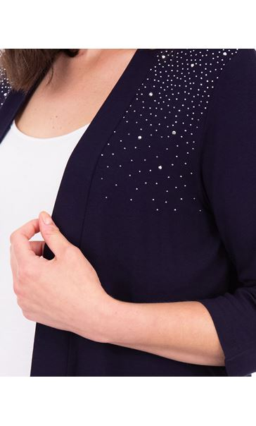Anna Rose Split Sleeve Embellished Cover Up Midnight - Gallery Image 4