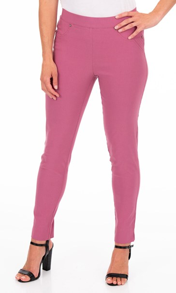 Pull On Slim Leg Stretch Trousers