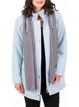 Anna Rose Hooded Coat With Scarf Grey - Gallery Image 1