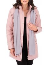 Anna Rose Hooded Coat With Scarf Rose - Gallery Image 2