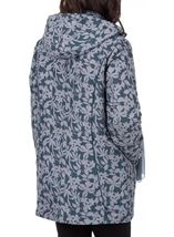 Anna Rose Printed Coat With Scarf Fir Green - Gallery Image 2