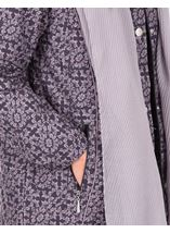 Anna Rose Printed Coat With Scarf Damson - Gallery Image 4