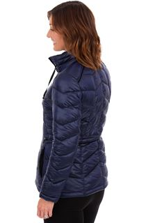 Quilted Coat With Velvet Trim