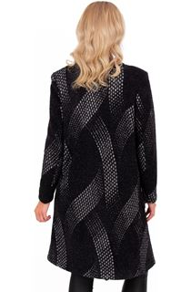 Knitted Open Front Coat