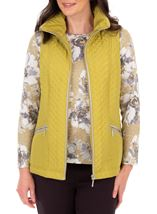 Anna Rose Quilted Gilet Lime - Gallery Image 1