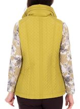 Anna Rose Quilted Gilet Lime - Gallery Image 2