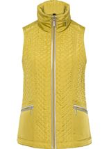 Anna Rose Quilted Gilet Lime - Gallery Image 3