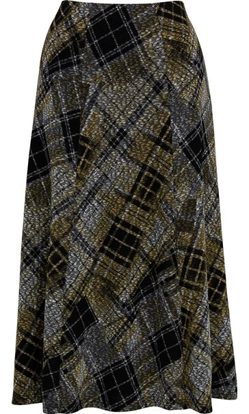 Anna Rose Elasticated Waist Check Skirt Grey - Gallery Image 3