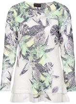 Anna Rose Layered Print Top White/Lime - Gallery Image 3