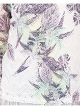 Anna Rose Layered Print Top White/Lime - Gallery Image 4